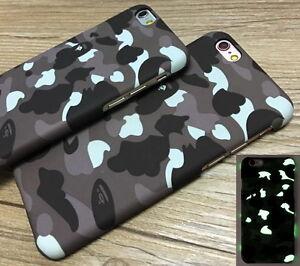 buy online d07e5 1b550 Details about Bape A Bathing Ape Glow Noctilucous Hard Case Cover for Apple  iPhone 6 6s 7 Plus