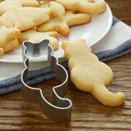 Chat en acier inoxydable Cookie Biscuit Cutter moule Fondant Cuisson Pâtisserie UK