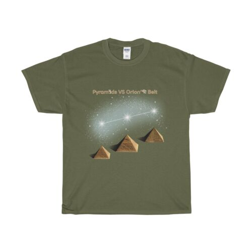 Pyramids Vs Orion/'s Belt Unisex T-Shirt//Ancient Aliens