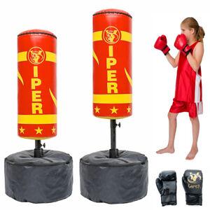 Kids Free Standing Punch Bag Boxing Stand MMA Training Junior Kick Martial Art