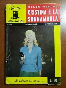 Cristina e la sonnambula - Helen McCloy - I gialli del secolo - 1958 - M
