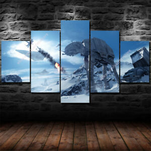 Image is loading star wars 5 piece canvas wall art prints