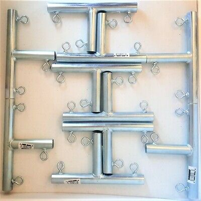 """~ 1 3//8/"""" Pipe ** Free Shipping ** FVFT 3 way /""""T/"""" SHAPED CANOPY FITTING 8pc"""