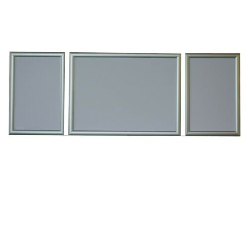 Bilderrahmen für Triptychon Malen nach Zahlen Bilder Größe 100x40 Farbe Silber