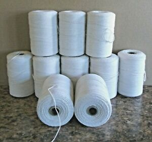Details About 10 Natural Spools 8 4 Poly Cotton Loom Weaving Rag Rug Carpet Warp Yarn String