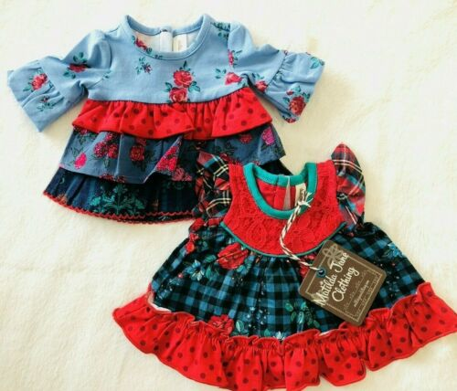 """Matilda Jane Doll Clothes Matches Feeling Festive Boughs Of Holly Top Fits 18"""""""
