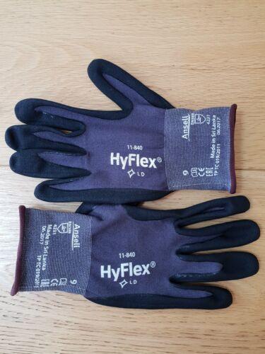 60 x Ansell HyFlex 11-840 Lightweight Extreme Durability FORTIX Gloves  size 9