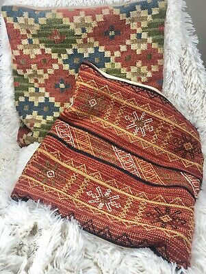 Pottery Barn Kilim Southwest Throw Pillow Covers Woven