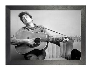 7 Bob Dylan Photo American Singer Legend Picture Music Poster Black White Guitar