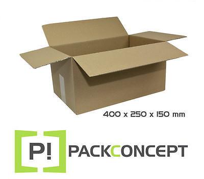 Pappkartons Kartons Faltkarton 400 x 250 x 150 mm Einfachwelle