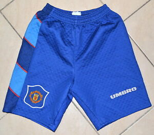 MANCHESTER UNITED 1995/1996 GOALKEEPER FOOTBALL SHORTS UMBRO SIZE YXL BOYS