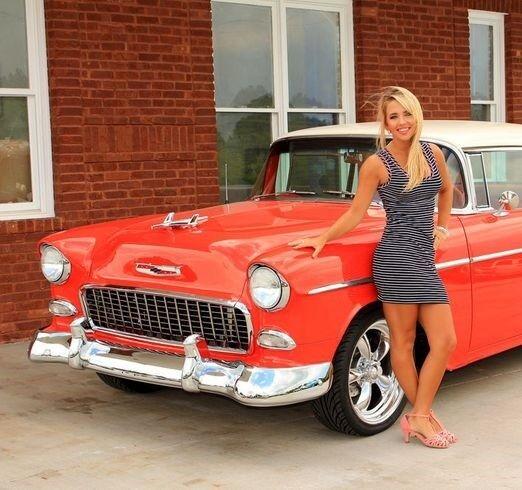 1955 Chevy Built Bel Air Vintage Car 1 Model 12 Carousel rosso 18 1957 1956 24 8