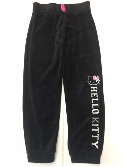Hello Kitty Little Girls Jogger Pants 6X Black Active Active Pants