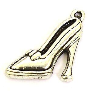 40 Plata Tibetana 15x17mm encantos del zapato de plata antigua
