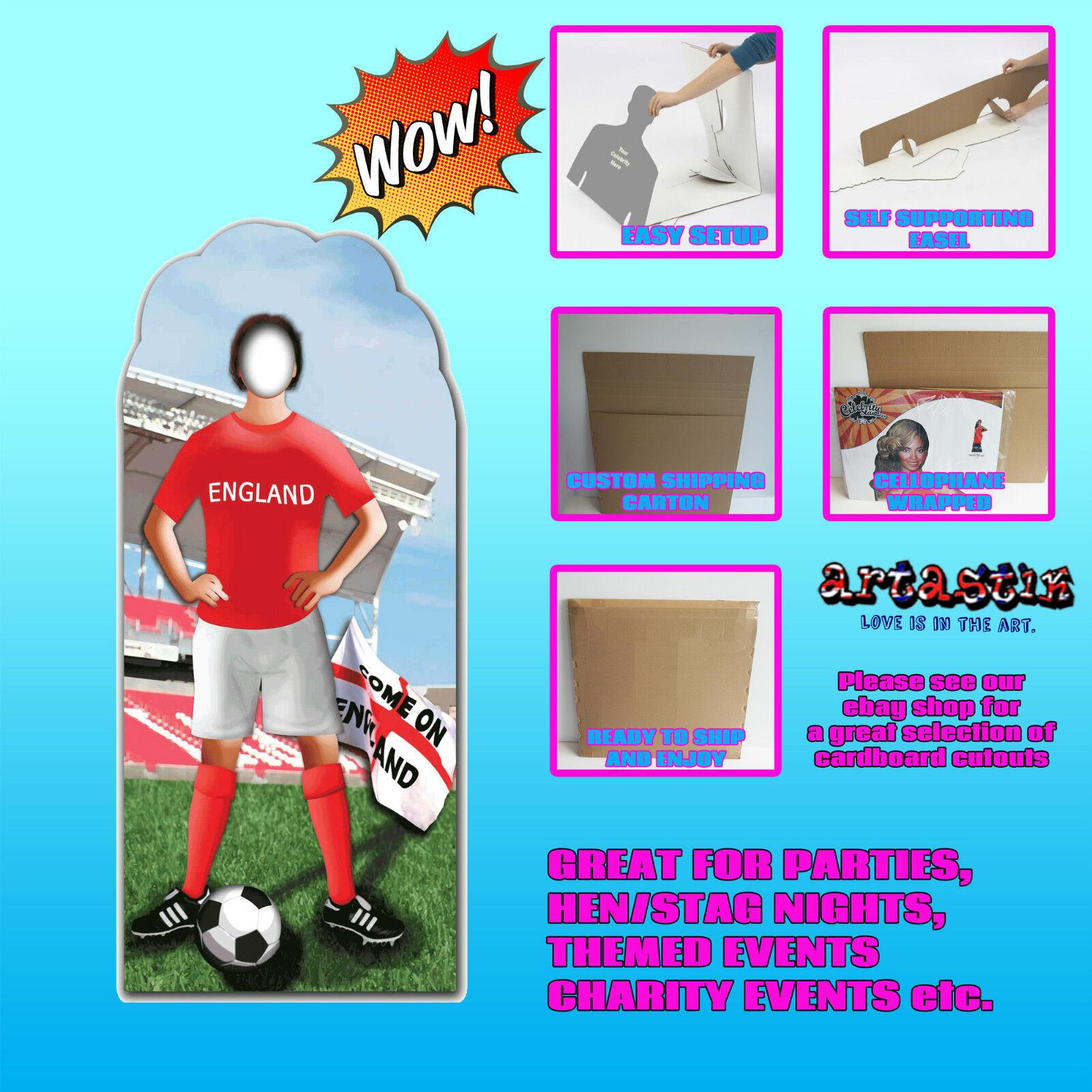 ENGLAND FOOTBALL LIFEGröße CARDBOARD CUTOUT STANDUP STANDEE SC199 SC199 SC199 9798d5