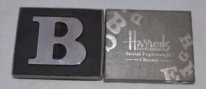"Harrods Knightsbridge Initial Paperweight Chrome Letter ""B"" Chrome"