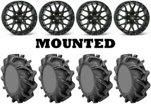 Kit-4-High-Lifter-Outlaw-3-Tires-28x9-14-on-ITP-Hurricane-Matte-Black-Wheels-SRA