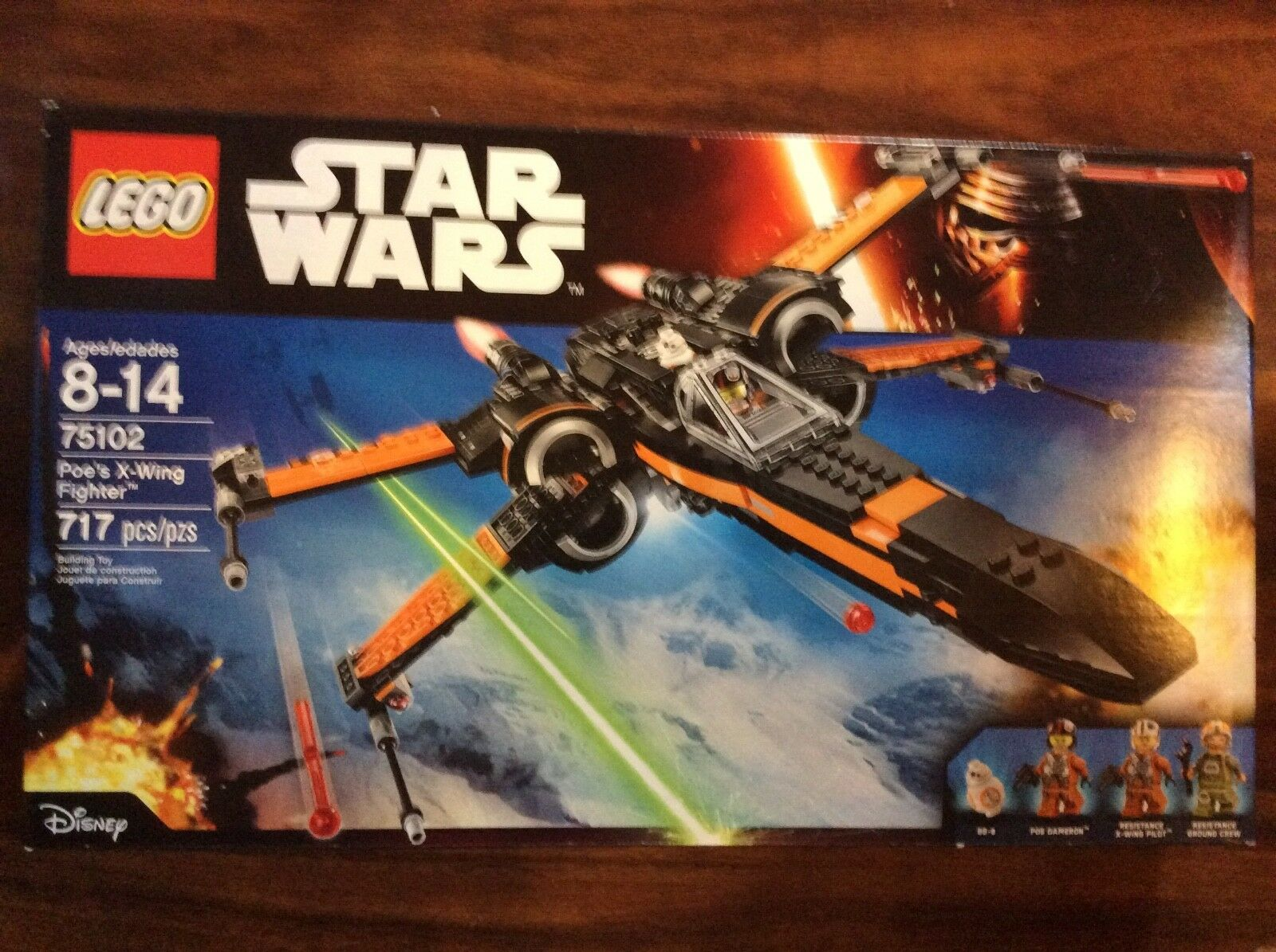 Neue lego - star - wars - poe x-wing kämpfer setzen 75102 in versiegelten kiste shelfwear