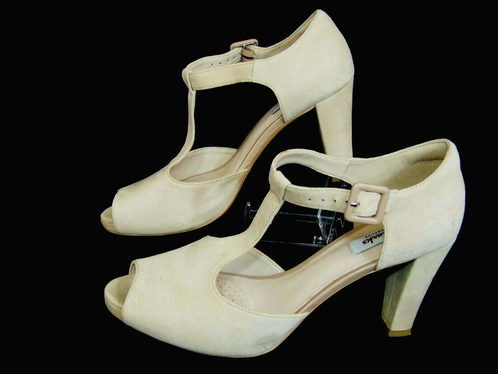 CLARKS Narrative Damen Pumps Gr 40 UK 6,5  Absatz 9 cm Kendra Flower High Heels