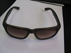 RAY-BAN-Sunglasses-RB-4165-710-13-JUSTIN-Wayfarer-Rubber-Brown-Free-Shipping
