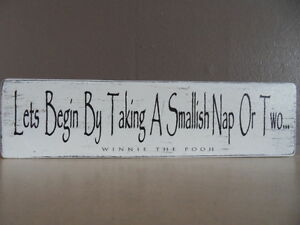 Shabby Winnie The Pooh quote plaque//sign free standing chic and unique