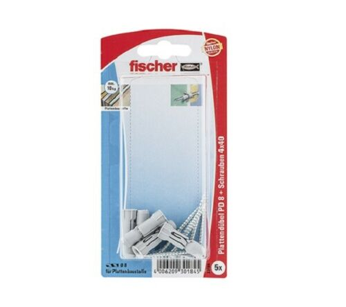 Fischer Plattendübel PD 8 SK SB-Karte 30184 Bohrungen Anbringungen Dübel Platten