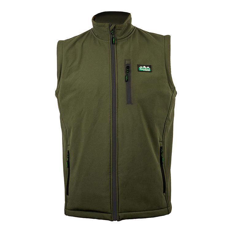 Ridgeline Talon Softshell Vest Gilet Waistcoat Green Country Hunting Shooting