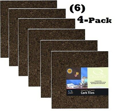 12 INCH x 12 INCH x 1 INCH THICK 6 PACK BROWN CORK SQUARES