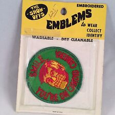 The Show Offs Patch Smile your on CANDID CAMERA Embroidered Emblems Biker 1970s