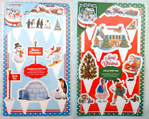 POP-TOPS-CHRISTMAS-CAKE-TOPPERS-SET-Victorian-Traditional-or-NORTH-POLE-PENGUINS