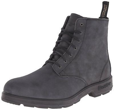 100% Vero Blundstone 1451 Nero Pelle Unisex Con Lacci Stivali Alla Caviglia Taglie 4-12