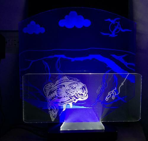 Large Mouth Bass, LED Bar Desktop Lamp