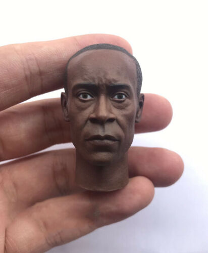 "Custom 1//6 War Machine Don Cheadle HeadSculpt fit 12/"" Male figure body"