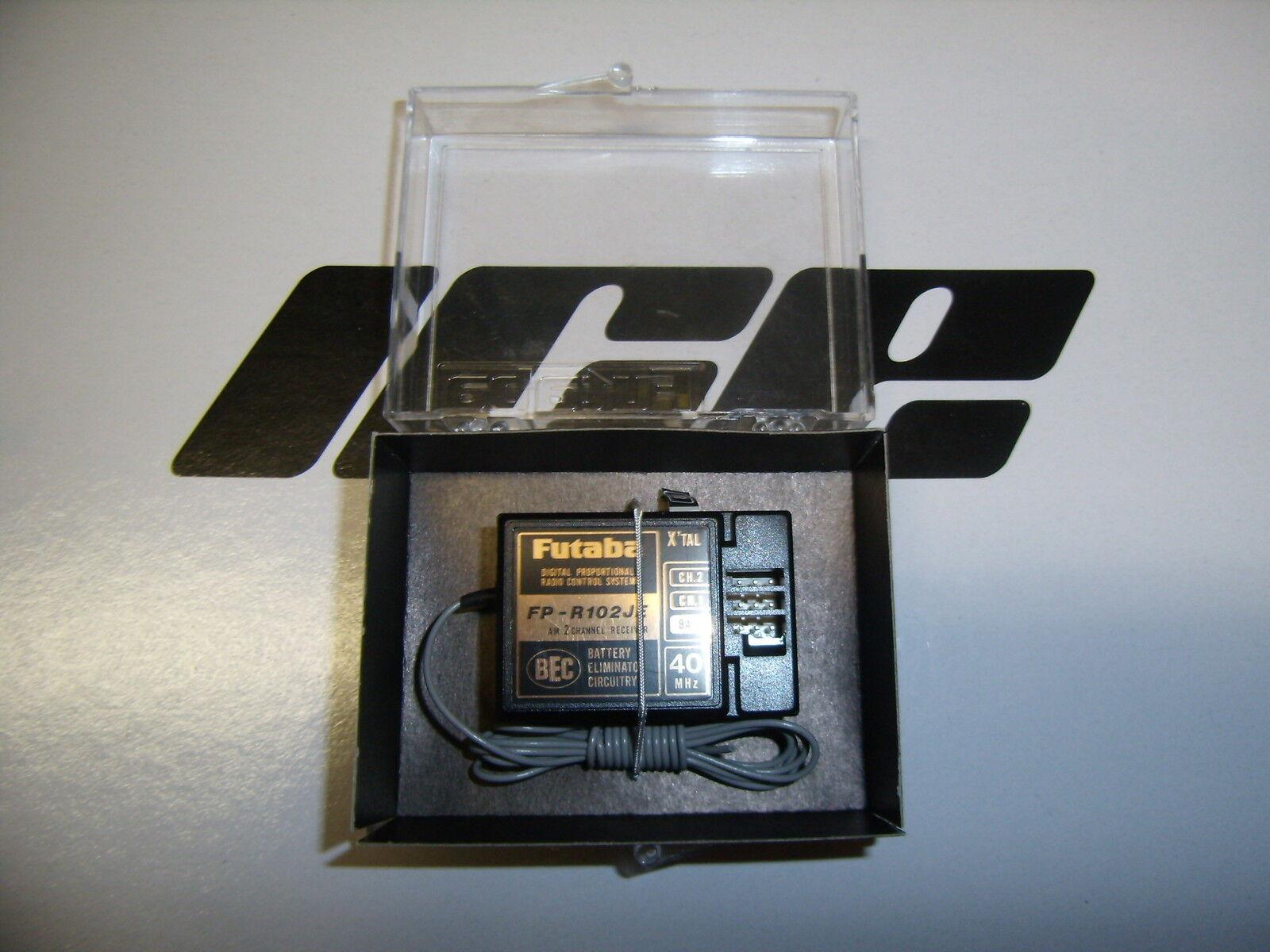 Vintage Futaba 1008 FP-R102JE 2 Ch Reciever 40Mhz NIB