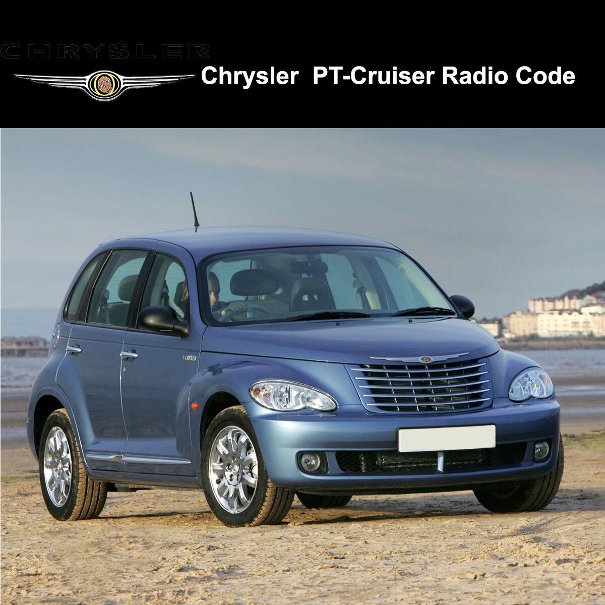 Chrysler PT Cruiser Radio Codes Stereo Codes Pin Unlock