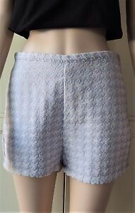American-Apparel-Dress-Shorts-Pastel-Lilac-Textured-Size-Large
