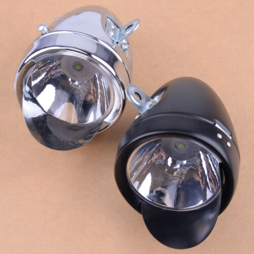 Metal Chrome Vintage Bike Bicycle Headlight Front Fog Light Head Lamp w// bracket