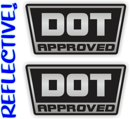 2 Reflective DOT Approved Motorcycle Helmet Stickers \ Decals \ Labels D.O.T.