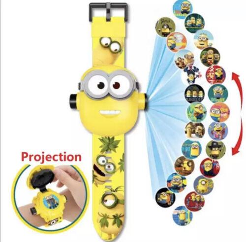 Minions Enfants Digital Montre Jouet Projecteur 3D 24 projections