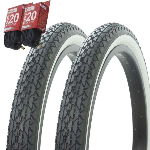 """Duro Bicycle Bike Tires /& Tubes 20/"""" x 2.125/"""" Green BMX COMP3 Style 1PAIR"""