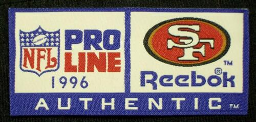 1996 Reebok Pro-Line SF 49ers Game Issue NFL Jersey Year-ID Tag