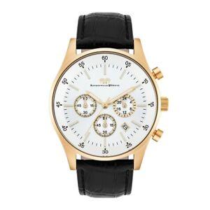 Rhodenwald Söhne Armband-Uhr Herren Goodwill gold Echtleder schwarz Uhren Uhr