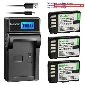 Kastar-Battery-LCD-Charger-for-Panasonic-DMW-BLF19-amp-Sigma-SD-Quattro-Camera
