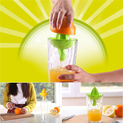 Manual Exprimidor Fruta Plástico Exprimidores Presión Aprieta Limón Estrujador