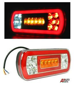 12-24v-Round-Neon-Ring-Led-Rear-Tail-Lamp-Light-Truck-Lorry-Trailer