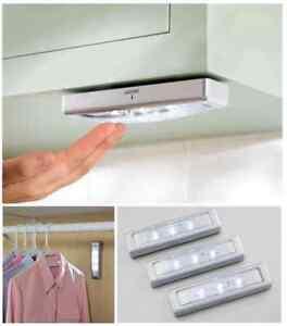 Image Is Loading 3pcs Led Kitchen Under Cabinet Lights Counter Wardrobe