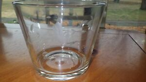 Princess House Heritage crystal ice bucket Heavy etched floral pattern