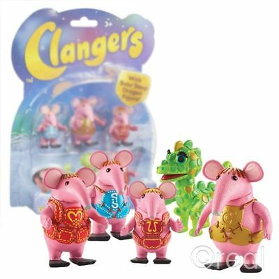 The Clangers 5 FIGURE PACK Baby Soup Dragon Tiny Major Mother Small Official