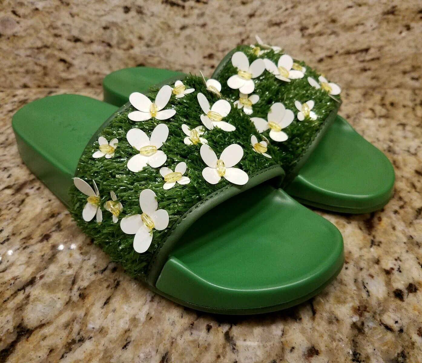 Katy Perry Women's The GEMA Slide Sandal Sandal Sandal Size 6 NEW Green Butterfly 93ae62