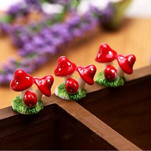 2-STUCKE-Nette-Mini-Harz-Pilze-Fee-Garten-Bonsai-Puppenhaus-Dekoration-H-E